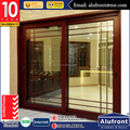 AS2047 wooden clad aluminum house sliding doors with grills design