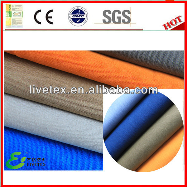 Woven peach skin cotton nylon fabrics materials cloth samples