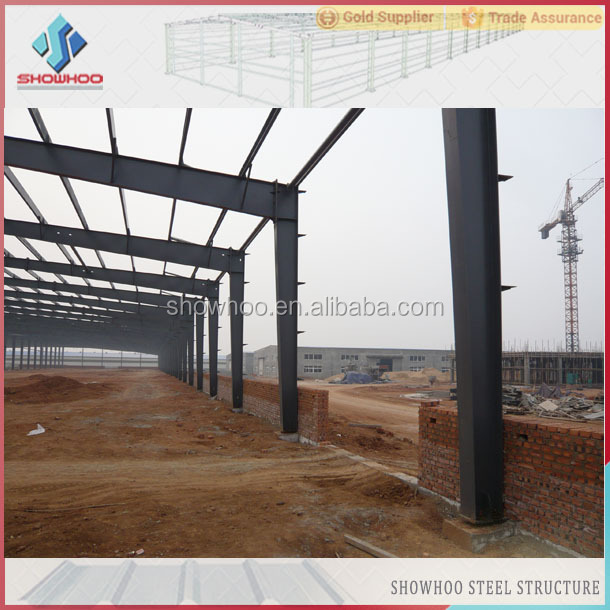 bolt connected easy installation prefabricated industrial lightweight industrial buildings in kit