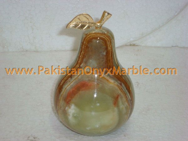 CUSTOM SIZE ONYX PEAR WITH BRASS LEAF HANDICRAFTS