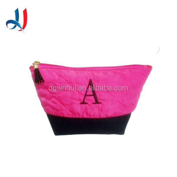 Customized And High Quality Canvas Cosmetic Bag Colorful Cheap Wholesale Makeup Case
