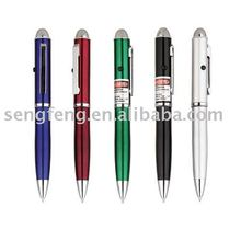 metal cross refill led light pen