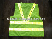 With pockets roadway high visibility motorcycle and running vest