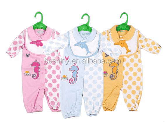 180gsm cotton material fashion design baby clothes