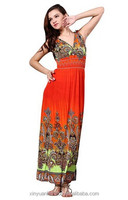 2015 Oriental ethnic arabic Muslim Style Floral party Traditional girl floral Print Gown Dress