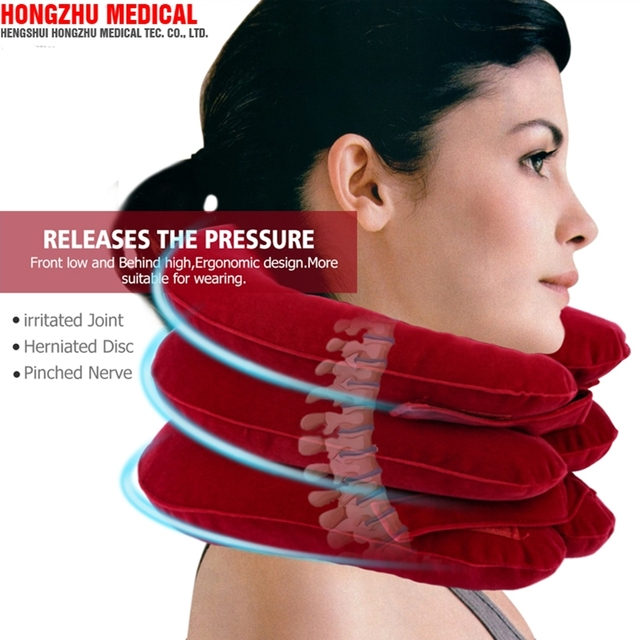 Amazon best saling FDA approved orthopedic equipments full flannel neck traction with air pouches