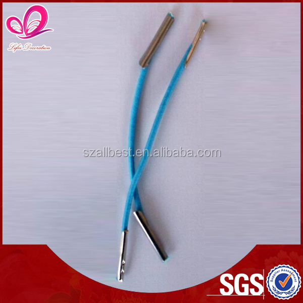 Shenzhen Port 0.8mm ~4mm elastic cord with metal barb end for sale