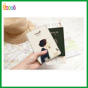 Encai Wholesale Travel Organizer Passport Cover/Nice Printing Bankbook Case/Stocked Multi Tickets&Cards Holder