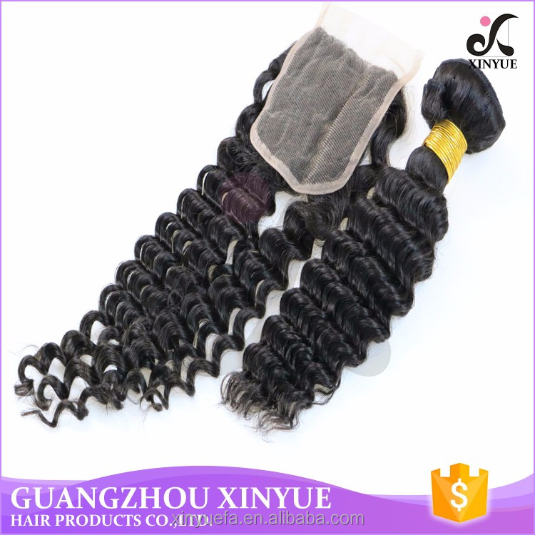 low price 6a human hair deep wave with closures in dubai for hair band
