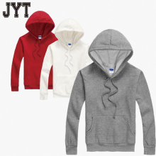 Top quality custom fleece cotton plain pullover Hoodies