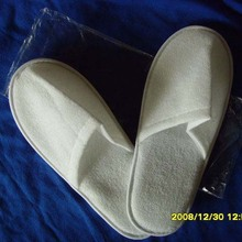 personalized velour closed hotel slippers