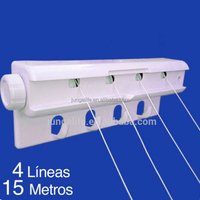 Good Quality Plastic Retractable Clothes Dryer & Washingline & Clothesline Wall Mount