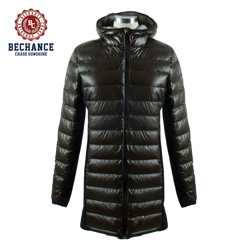 the wholesale latest design with hood collar long down coat women for winter