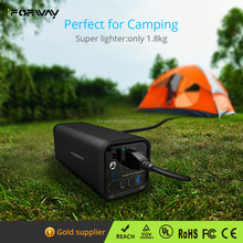 154Wh Camping Battery 110V/220V Solar Power Generator Power Supply Energy Storage Lithium ion Battery Charged by Solar/AC Outlet
