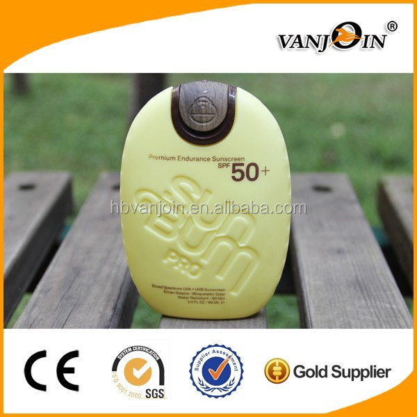 High Quality Handstand HDPE Plastic Sunscreen Lotion Bottle