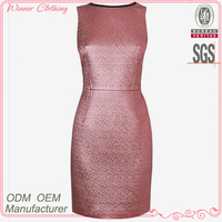 2014 fashion summer sleeveless shift dress for ladies