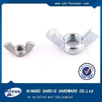 China low price high quality zinc plated butterfly lock wing nut