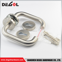 stainless steel and commercial glass door level handle DEGOL Hardware