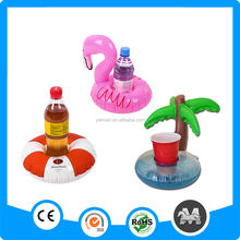 Wholesale pool float PVC inflatable cup holder inflatable pool drink holder