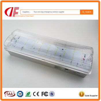 IP65 LED Emergency Bulkhead 3W 0.3m Maintained Surface Mounted Bulkhead with SAA TUV UL certificates