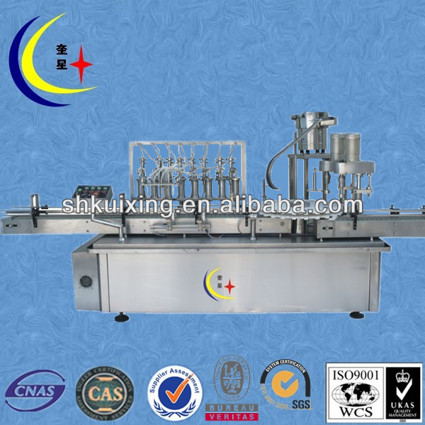 YXT-YG8/2 automatic bottle filling capping machine