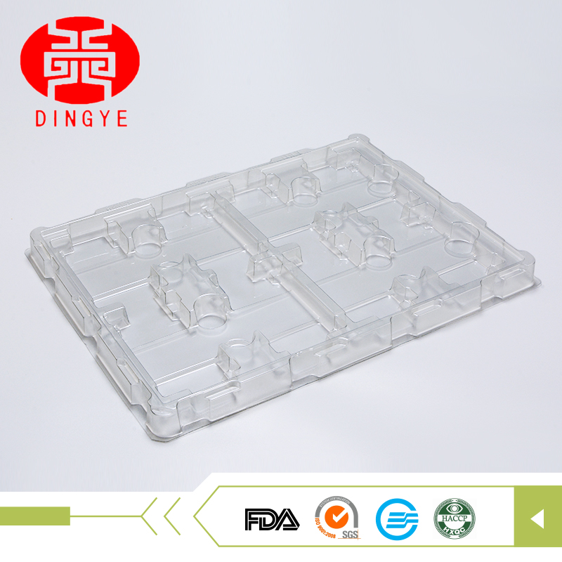 Transfer shipping protective plastic stackable tray electronic packaging for antistatic