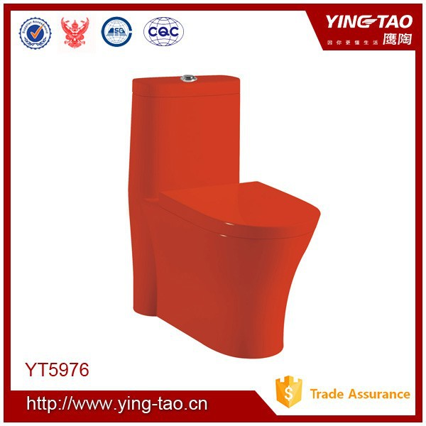 Colorful good quality siphonic wc bathroom red toilets for sale