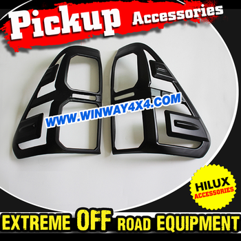 2015 Pickup Truck Accessories Matte Black Tail Lamp Cover For 2015 Hilux Revo