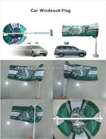 Promotion item custom logo printing car windsock flags