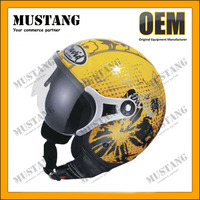 Different Sizes DOT Open Face Double Visor Motorcycle Helmet For Sales