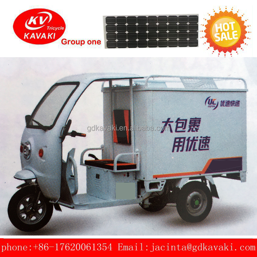 front loading close cargo tricycle with bajaj tricycle