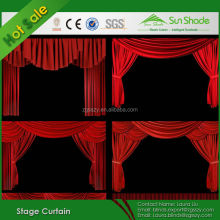 Electric Black Velvet Fabric Blackout Church Stage Curtain For Sale
