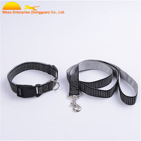 Dog Products Strong 1 Inch Black Nylon Webbing Dog Collars Wholesale