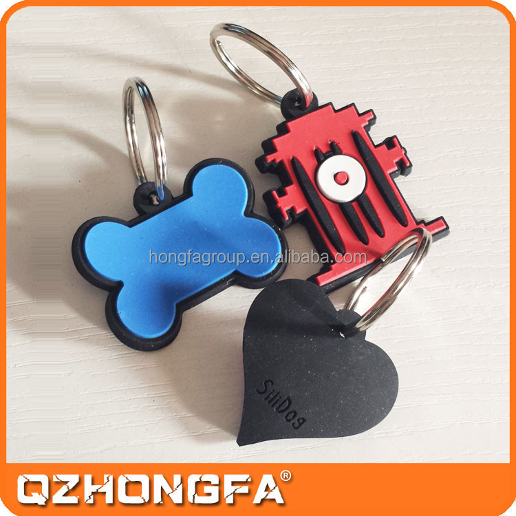 Promotional Wholesale Silicone Dog Tag for Dogs