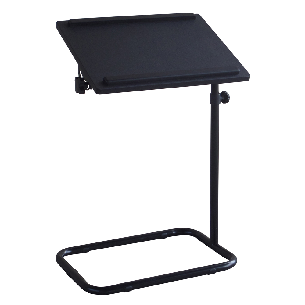 Portable height adjustable sofa side table metal computer desk laptop stand