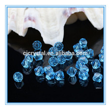 Faceted Crystal bicone beads clear color