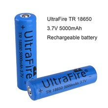 Hot Sale !! Lithium 3.7V 5000mAh UltraFire 18650 Battery Blue
