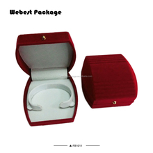 Webest beauty fabric covered wedding invitation velvet invitation ring rolls jewelry box