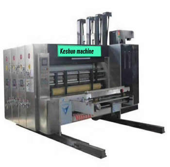 3 color flexo printing slotter and die cutter corrugated Cardboard Box Making Machinery
