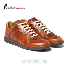 Genuine Leather Classic Style Men Leather Sneakers Italy Calzado