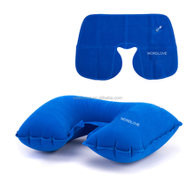 promotional custom u shape inflatable travel neck pillow for resting