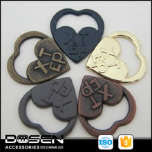 Superior quality hollow out handbag metal label garment accessories cheap china wholesale clothing metal logo