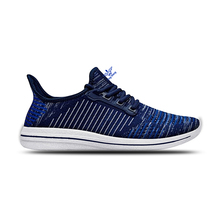 2017 new item lace up lightweight flyknit sneaker sport mens shoes