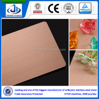 Foshan 304/316 copper coating/coat gold/rose gold/champagne gold/blue/black/grey color stainless steel plate/sheet for elevator