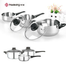 2015 China New Design Stainless Steel Cooking Pot 3 Pcs Cookware Set