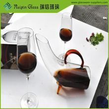 Hand crafted art glass decanter for hotels