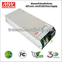 Meanwell RSP-1000-27 (1000W 27V 37A) Single Output Parallel Switching Power Supply Built-in PFC PF>0.95
