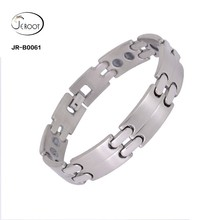 Wholesale Custom Stainless Steel Adjustable Silver Bracelet
