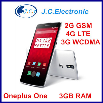 New Original Oneplus One phone LTE 4G FDD 5.5 FHD 1920x1080 Snapdragon 8974AC 2.5GHz 3G RAM 16G/64G Android 4.4 3100mAh One Plus