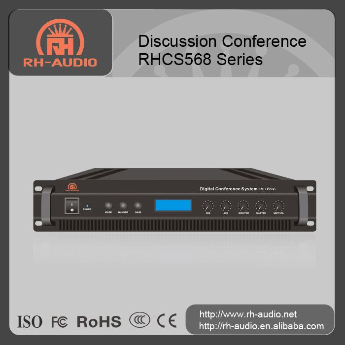 RH-AUDIO Digital Discussion Audio conference system series supporting up to 250 microphones